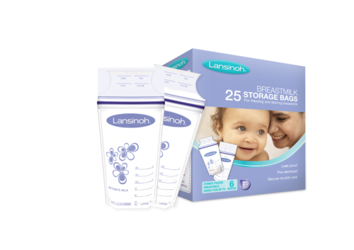 Lansinoh® BREASTMILK STORAGE BAGS are strong and leak proof, pre-sterilised, BPA and BPS free